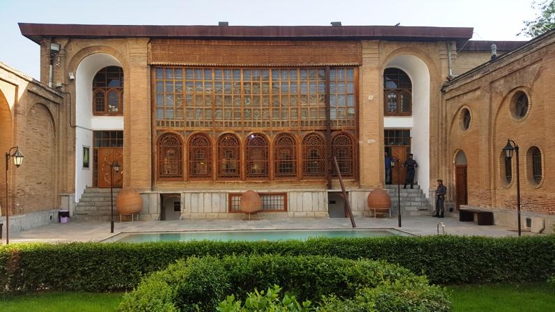 حیاط خانه سالار سعید